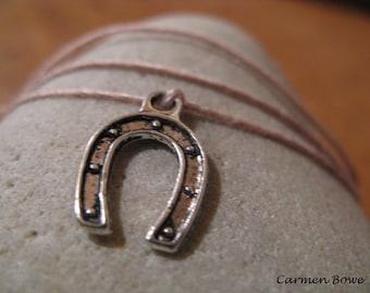 Lucky Horseshoe Charm Dream it, Wish it, Wear it Bracelet/Anklet by Carmen Bowe