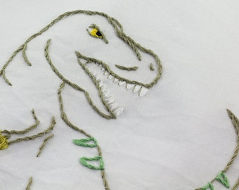 Dinosaur Embroidery Pattern Dinosaur Embroidery Design