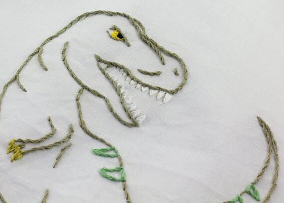 Dinosaur Embroidery Pattern