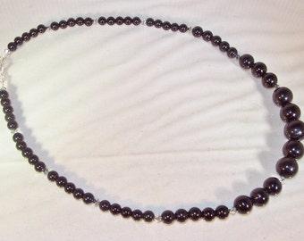 Gemstone and Swarovski Crystal Jewelry - Black Tourmaline - Necklace