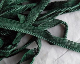 Piping Green Satin Corded Piping very Nice quality