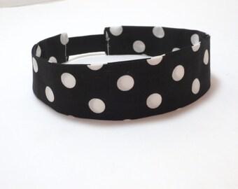 Adult Headband - Black and White headband - Pin up - Dolly Headband