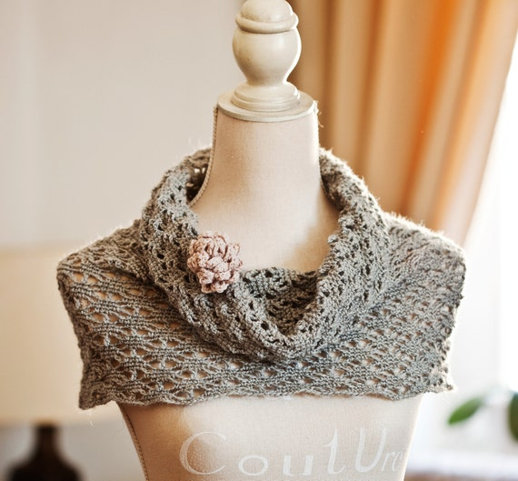 Instant download - Crochet PATTERN (pdf file) - Lace Cowl