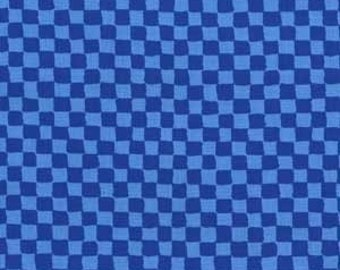 Sale Fabric Michael Miller Clown Checks in Periwinkle 1/2 Yard