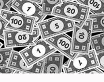 Mr. Monopoly Money Fabric for Quilting Treasures 1/2 yard