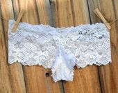 Something Blue MRS Rhinestones BRIDAL Lingerie Bling Panties Underwear - Bridal Knickers Size Medium -Ships in 24hrs