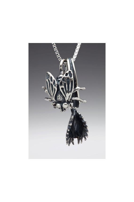 Insect Jewelry - Fly and Flytrap Pendant - Venus Flytrap Insect Pendant Insect Charm