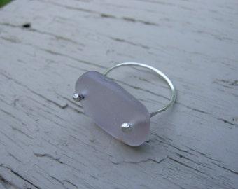 Light Pink/Purple Sea Glass Ring