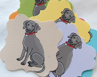 Weimaraner Die Cut Collection - Eco-friendly Set of 8 - Scrapbooking Embellishment