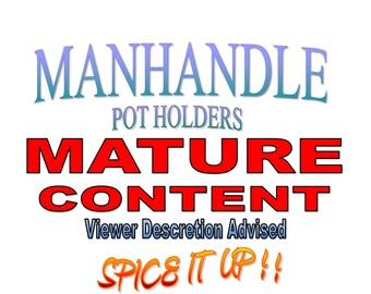 Item 83 - ManHandle Pot Holder in Pinks