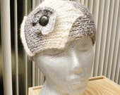 Hair Accessories...Head Decoration...Elegance for Winter.... Hand Made Headband....Warm and Chic