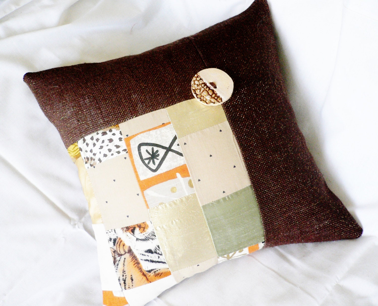 Modern Patchwork Pillow : Modern Patchwork ... Throw Decorative Pillow ... Pillow Case