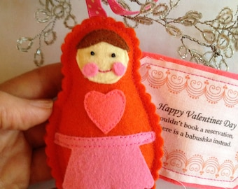 Valentine Babushka in Orange