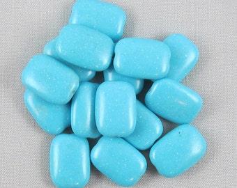 Blue Magnesite 14mm x 10mm Rectangle Beads - 15 pieces #C3