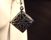 Celtic knot Square shape earrings made with Australian Pewter and Surgical Steel hook