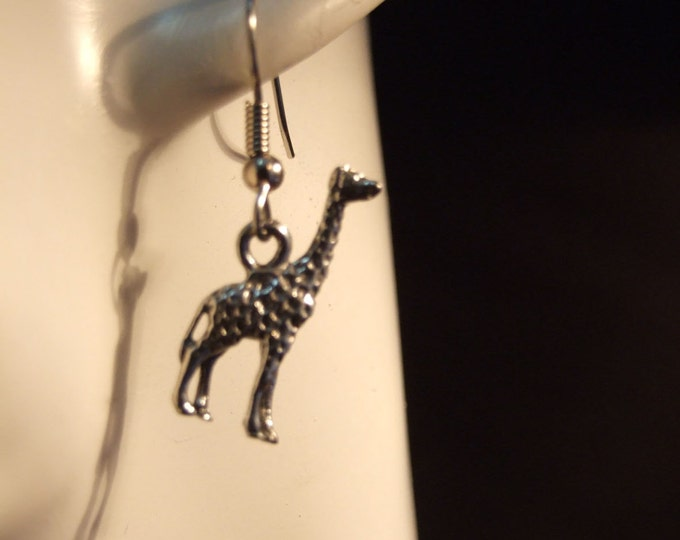 Giraffe earrings made with Australian Pewter and Surgical Steel hook