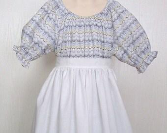 Pioneer Trek  Girls  Prairie Colonial Civil War - 3 PCS  Costume  Size 5/6--  Ready to Ship