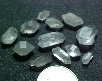 Double Terminated Tibetan OM Crystal Great to Wire Wrap Lot E003