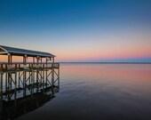 Gradient Sunset & Dock Fine Art Print