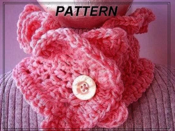 Crochet Pattern - Scarf Cowl Neckwarmer , Womens Clothing Accessory,  number 31