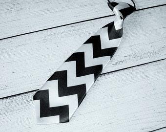 black necktie baby boys necktie chevron necktie first birthday photo prop