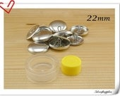15 sets of 22mm ( 7/8 inch )  Size 36 aluminium Self cover buttons with Assembly  tool  fabric cover button kit