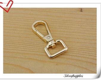 0.5 inch 12mm (eye size ) Heavy duty gold  purse hook lobster Claw Hooks Straps hooks  8 pieces AC73