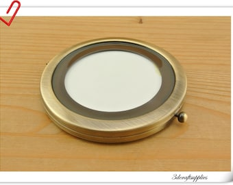 Top quality Blank compact mirror frame Pocket mirror Make a gift for her / him  Anti bronze AC58