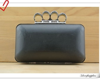 Nickel Four rings Box purse frame handbag frame bag frame 17.5cm x 10cm (7 inch x 4 inch ) Z80