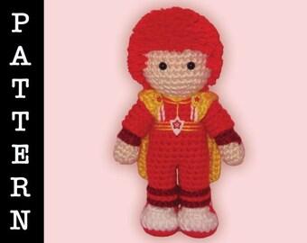 Crochet Pattern - Amigurumi Red Butler Doll