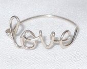 Love ring, sister gift, personalized ring, sterling silver
