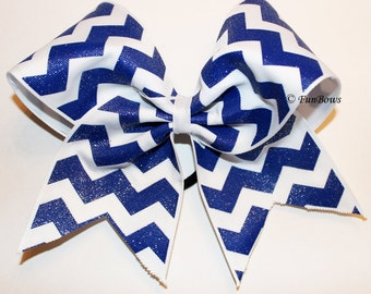 Beautiful Chevron Cheerleading Bow  by Funbows