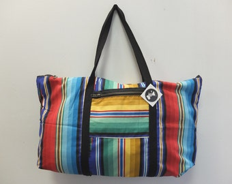 OOAK Rainbow Stripe Tuffle Bag