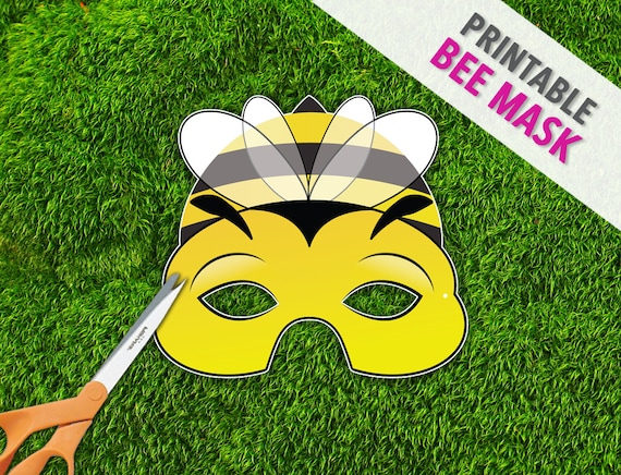 Bee Mask | Printable Mask | Photo Prop | Bug Mask | Spring Easter