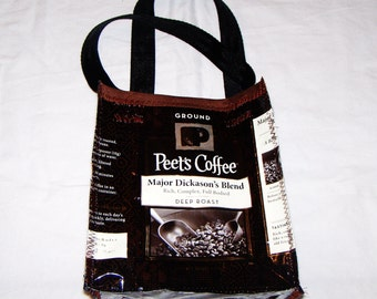 Fun Eco Friendly Purse made with Recycled Coffee bags upcycled repurposed