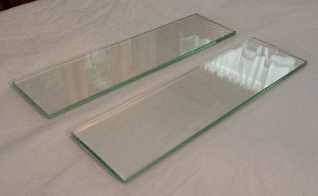 1940 39 s glass medicine cabinet shelves 2 pieces. Black Bedroom Furniture Sets. Home Design Ideas