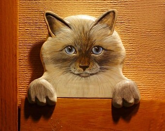 CUSTOM PET PORTRAITS -  Hand Carved and Hand Painted Door Toppers or Window Sill Sitters or just Sit on a Shelf