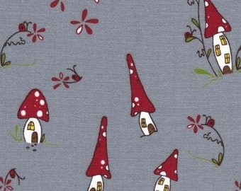Japanese, Lecien, Natalie Lymer - Cinderberry Stitches, Woodland Village in Grey 30405.90 - 1 Yard Sale