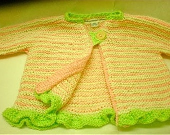 Hand Knitted Baby Girl Sweater/Knitted Newborn girl sweater/hand knit baby/hand knit baby sweater/hand knit baby girl sweater/hand knit