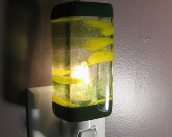 Sparkly Green and Yellow Kitchen or Bathroom Night Light