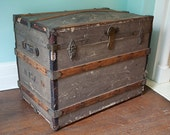 Antique Trunk Sarah Van Antwerp Estate in Albany, NY late 1800