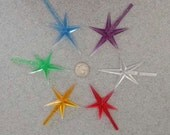 One Replacement  STAR ,LARGE, for ceramic Christmas tree  in Red, Blue, green, yellow, Purple or Clear