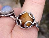 Priestess Initiation Ring (size 8,  tiger's eye)