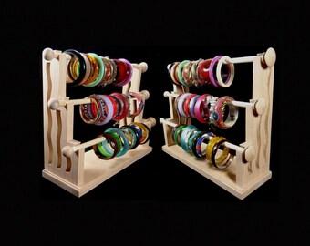 Mission Style Standing Bracelet Holder Organizer Storage Display Oak