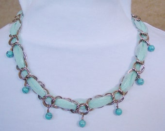 Fabric 'n' Chain Necklace