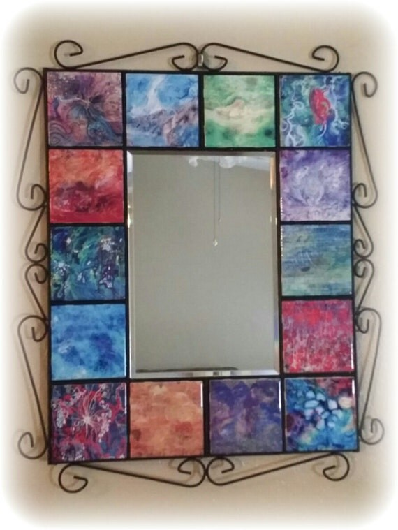 Bathroom Mirror Abstract Wall Mirror Wedding Gift Mirror