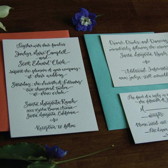 Mattituck - Letterpress Wedding Invitation Sample