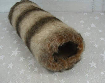 Brown Chinchilla Hand MUFF, Women's Hand Muff, Faux Fur Muff,  Handmuff, Brown Handwarmer