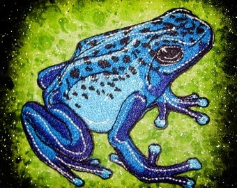 Blue Poison Dart Frog Dendrobates Azureus Iron on Patch