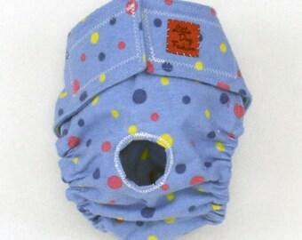 S Dog Diapers Blue Polka Dot